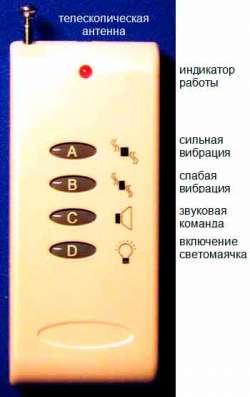 Вибро-звуковой ошейник с пультом, модель Е-154.