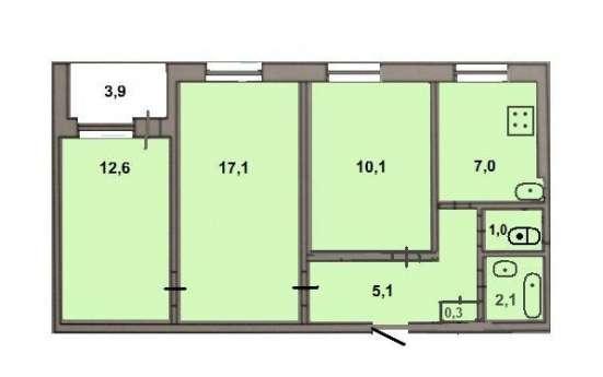 Сдаётся трёхкомнатная квартира в Саратове Фото 1
