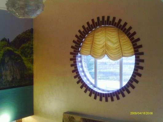 Пошив штор любой сложности.Изготовление фресок и фотообоев .