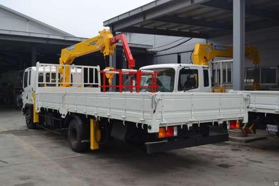 Бортовой грузовик Hyundai hd120 с манипулятором Soosan SCS 3