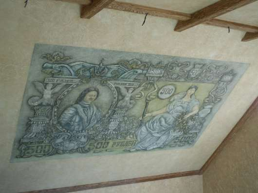 Роспись стен, потолка, барельеф, декоративная штукатурка