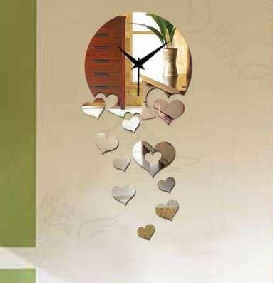 Зеркальные настенные часы в Кемерове Фото 1