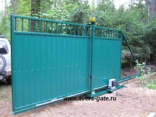 Ворота откатные в Санкт-Петербурге Фото 1
