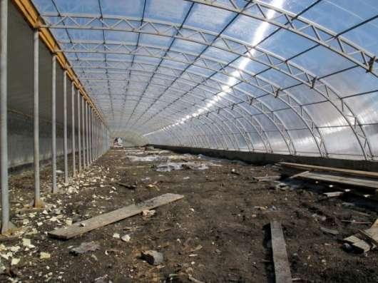 Фермерская теплица, 22 на 100 м, пленка, стекло, Красноярск