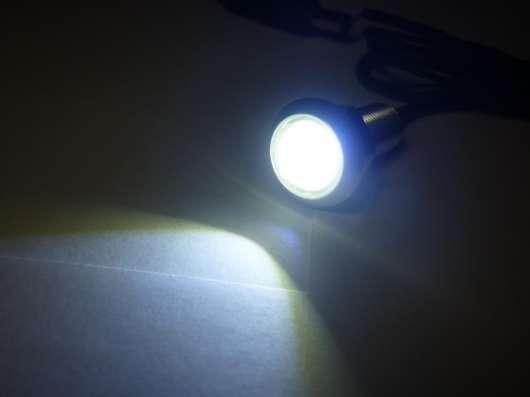 Светодиодные огни 18мм белый свет серебристый корпус