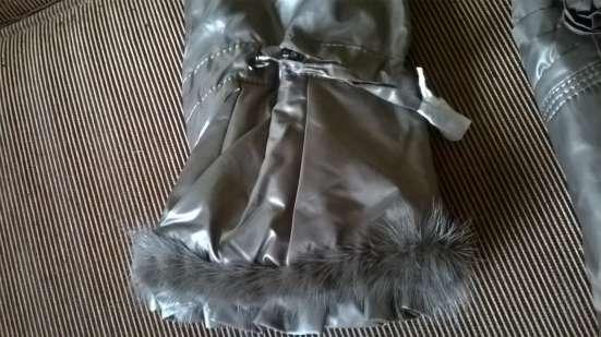 Длинное женское пально MIRAGE-MV с мехом норки