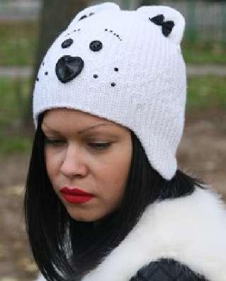 Женская трикотажная зимняя шапка