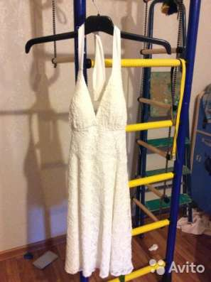 Шикарное белое платье сарафан 42-44 новое