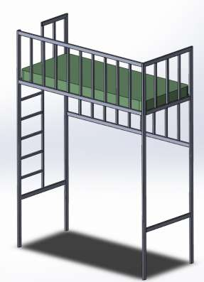 Двухярусная кровать по вашему проекту. в Москве Фото 1