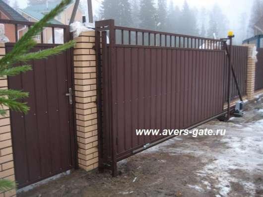 Ворота откатные в Санкт-Петербурге Фото 3