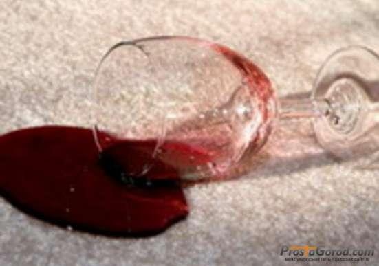 Удаление пятен крови, лак
