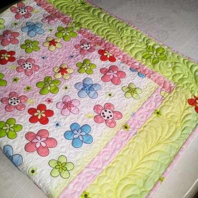 Летнее одеяло-покрывало для девочки (hand made)