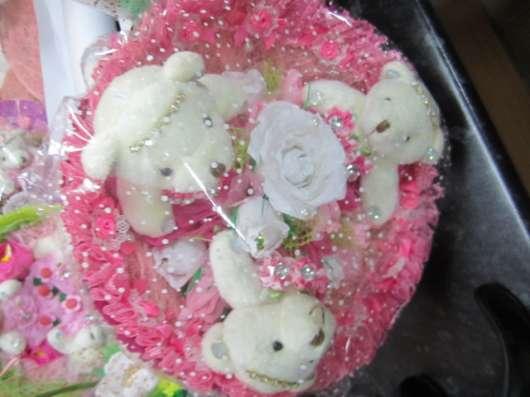Сладкие букеты с мишками