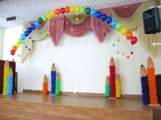 Оформление актового зала в школе воздушными шарами
