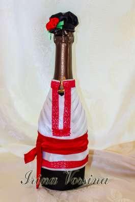 Свадебное шампансакое. Оформление бутылок.