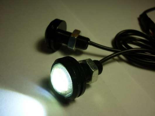 Точечные LED огни 23мм белый свет