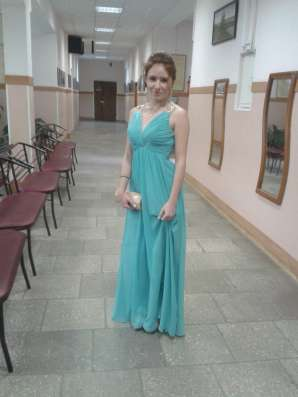 Вечернее платье бирюзового цвета в Москве Фото 1
