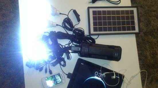Система освещения на Аккумуляторе с солнечной панелью в Екатеринбурге Фото 1