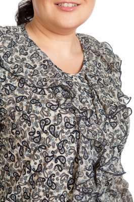 Нарядная трикотажная блузка с шифоном в Новосибирске Фото 2