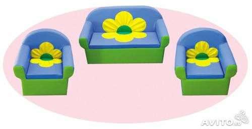 "Комплект диван и кресло ""Цветок"""