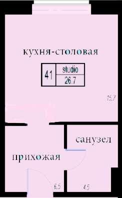 Квартира студия в Юкках в ЖК в Санкт-Петербурге Фото 3
