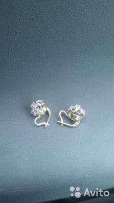 Продаются золотые серьги с бриллиантами в Пятигорске Фото 3
