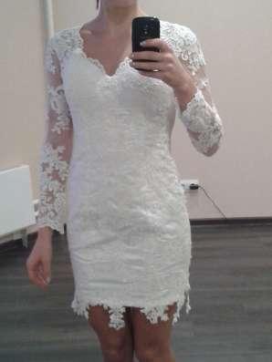 Новое короткое свадебное платье