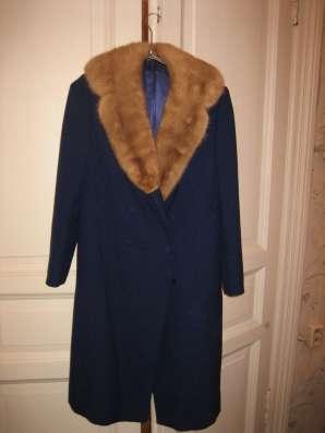 зимнее пальто с норкой