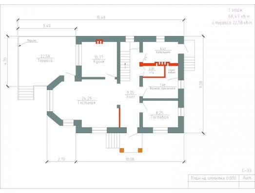 Продам проект коттеджа 130 кв. м / Артикул С-33 в Перми Фото 2