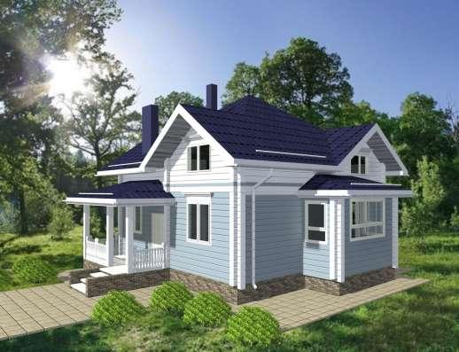 Деревянный дом из бруса ФЛИГЕЛЬ от компании МОГУТА
