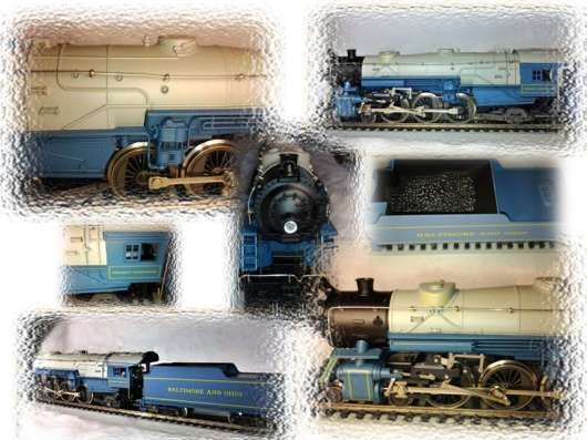 """Модель паровоза - 4-6-2 """"Heavy Pacific"""". Масштаб НО."""