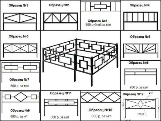 Металличесие ритуальные ограды