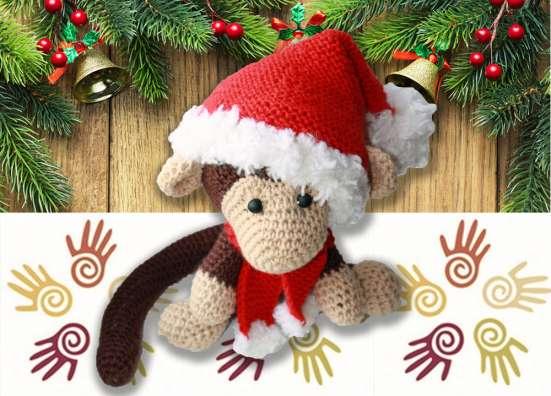 Вязаная обезьянка символ 2016 года