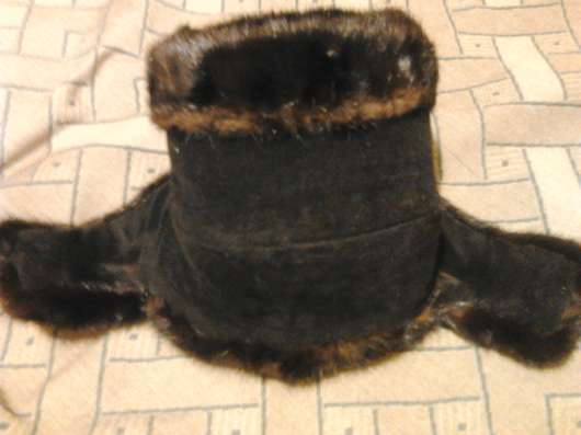 Шапка мужская комбинированная из норки и замши