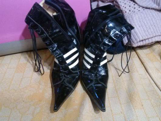 Ботинки кожаные остроносые