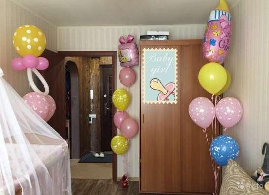Встреча из роддома с гелиевыми шарами в Мурманске Фото 1