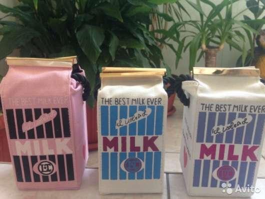 Женская сумка Milk в виде пакета молока