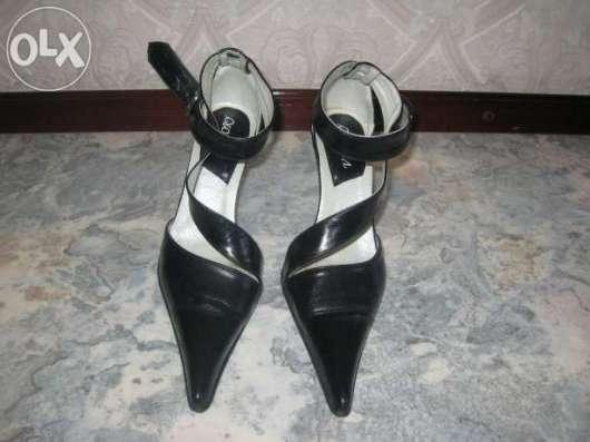Туфли модельные кожа
