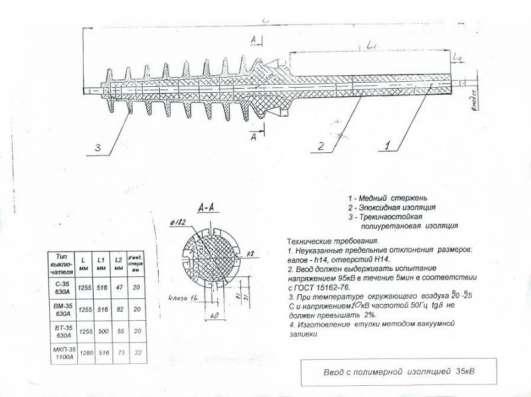 Ввод ВЛ-35, Ввод ВКП-35, Ввод ВВФ-35 в Екатеринбурге Фото 1