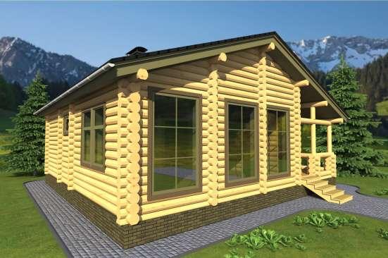 Деревянный домик из бревна от компании МОГУТА Горная Сказка