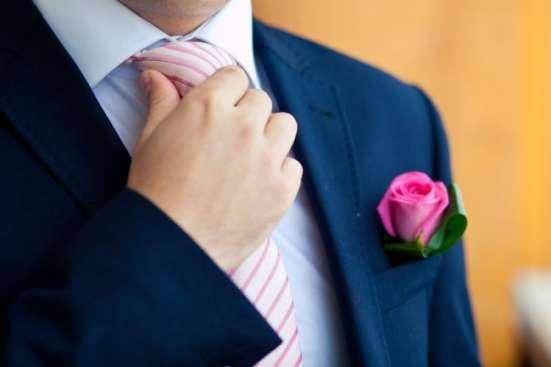 мужской классический костюм 48-50 синий прокат