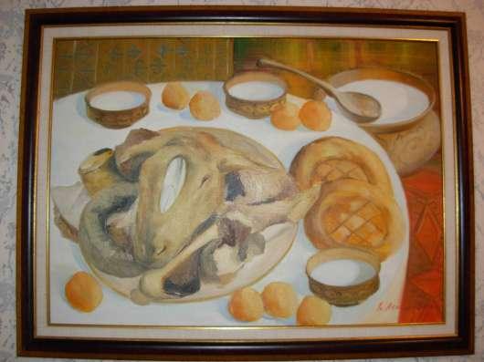Картина Холст Масло натюрморт 2009 г. (Акашев Курмангазы)