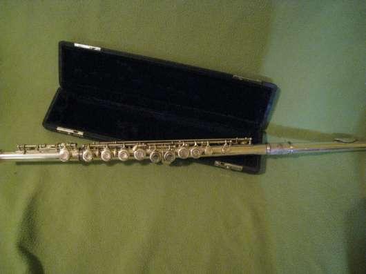 Флейта поперечная металлическая