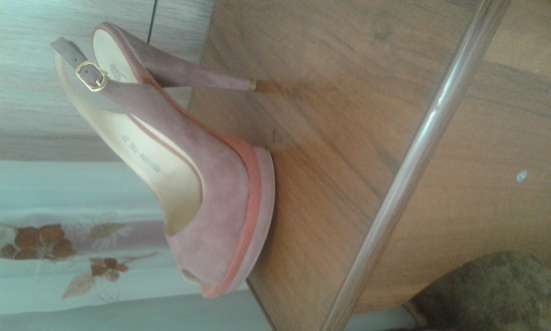 туфли розового цвета из велюра