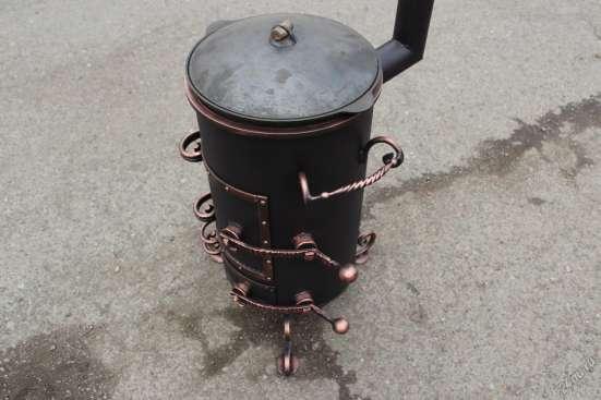Печь под казан с трубой в Красноярске Фото 2