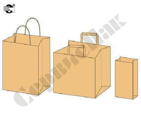 Предлагаем фасовочные бумажные пакеты из крафта бурого с пло