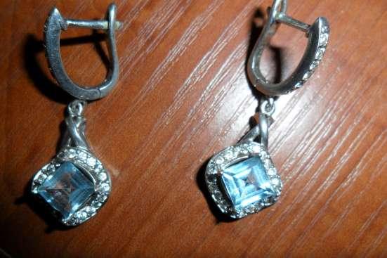 комплект серебрянный с топазом