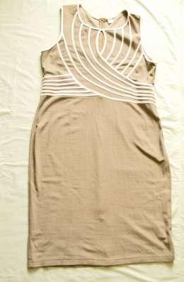 Платье трикотажное бежевое BonPrix