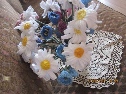 Вязаные цветы Ручная работа в Москве Фото 5