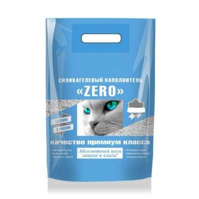 Силикагелевый наполнитель Зеро для кошачьего туалета